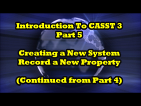 Introduction to CASST 3, Part 5 of 7