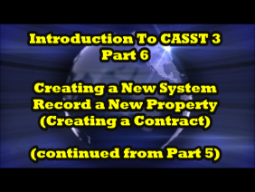 Introduction to CASST 3, Part 6 of 7