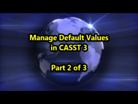 Manage Default Values in CASST3